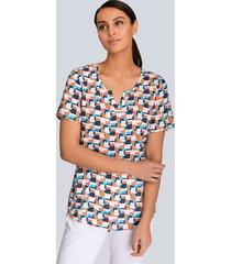 blouse alba moda marine::oranje