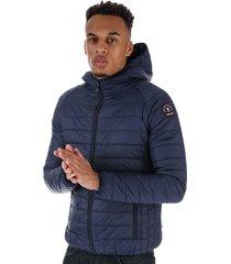 mens carlyon hooded puffa jacket