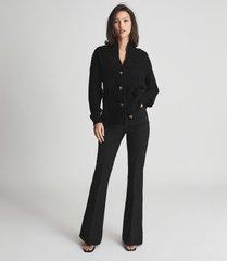 reiss summer - shawl collar cardigan in black, womens, size xl