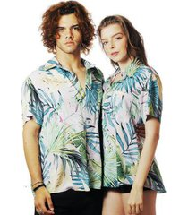 camisa elephunk praia estampada havana - unissex