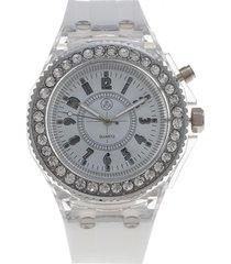 reloj análogo casual blanco vox
