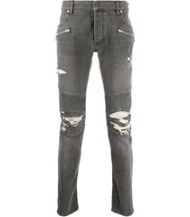 destroy biker jeans