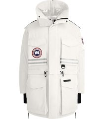 canada goose x angel chen snow mantra convertible coat - white
