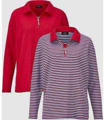 sweatshirt dress in rood::wit::lichtblauw