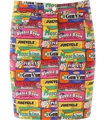 moschino chewing gum mini skirt