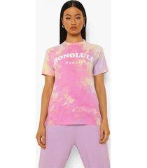 oversized tie dye honolulu t-shirt, stone