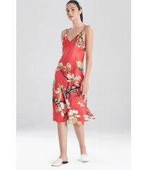 natori enchanted lotus satin nightgown sleep pajamas & loungewear, women's, size s natori
