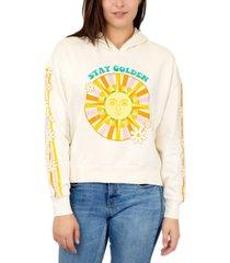 rebellious one trendy plus size stay golden hooded sweatshirt