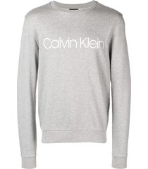 calvin klein jeans est. 1978 logo print sweatshirt - grey