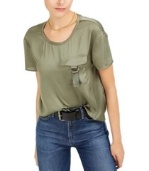 bar iii utility-pocket top, created for macy's