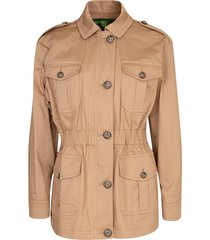elastic waist colonial jacket
