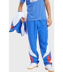 pantalón de buzo reebok tslux bold 7/8tight2.0mod azul - calce regular