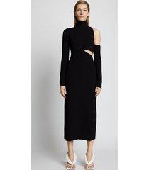proenza schouler bandage knit cut out dress /black s