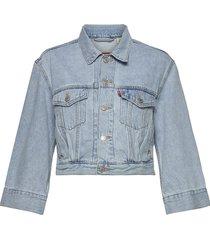 loose sleeve trucker loosey go jeansjack denimjack blauw levi´s women