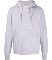 sandro paris logo hoodie - grey