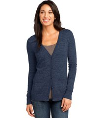 district made dm415 ladies cardigan sweater - navy