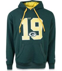 moletom canguru fechado green bay packers nfl new era masculino