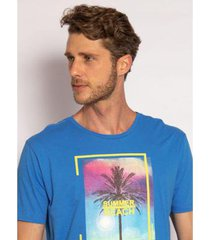 camiseta aleatory estampada summer beach masculina - masculino