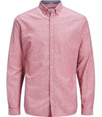 jack & jones heren overhemd poplin button-down slim fit