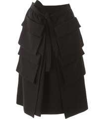lemaire multi-pocket skirt