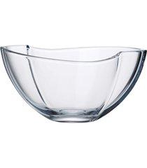 saladeira bohemia 29 cm smile incolor - branco - dafiti
