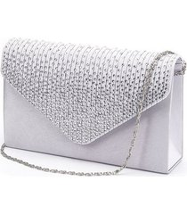 large evening satin bridal diamante clutch bag party prom envelope female should