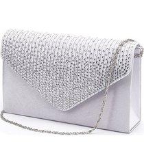 large evening satin bridal diamante clutch bag party prom envelope female should
