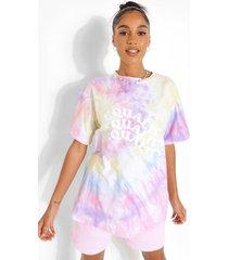 oversized tie dye equality t-shirt, multi