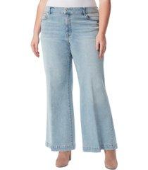 jessica simpson trendy plus size true love wide-leg jeans