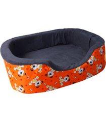 cama para perro tipo cuna mediana - naranja