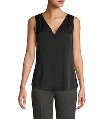 kobi halperin women's georgie stretch silk blouse - black - size s