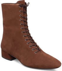 joyce shoes boots ankle boots ankle boots flat heel brun vagabond