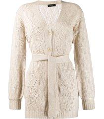 etro belted wool coat - neutrals