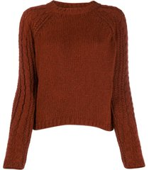 forte forte chunky knit sweater - brown