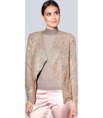 kavaj alba moda rosa::guldfärgad