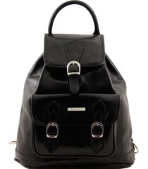 tuscany leather tl9039 singapore - zaino in pelle nero