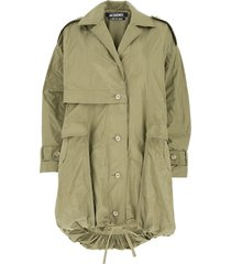 buttoned parka
