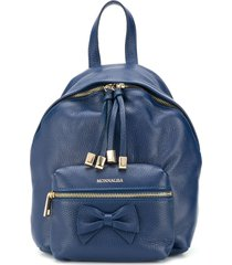 monnalisa bow-detail backpack - blue