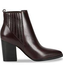 alva leather booties
