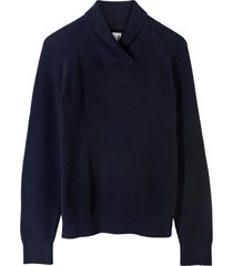 chaleco shawl azul marino gap