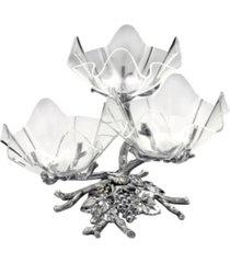 arthur court designs aluminum grape acrylic bowls 3-tiered stand