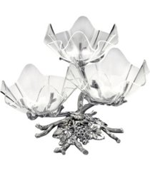 arthur court designs aluminum grape acrylic bowls 3-tiered stand