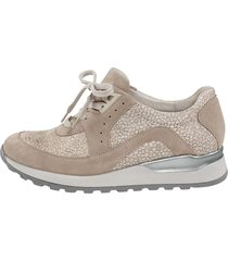 skor för breda fötter waldläufer beige
