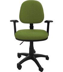 silla oficina lizza media v.manzana con brazos  ref: 2010