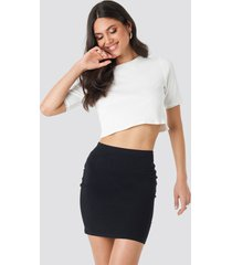 na-kd basic basic jersey skirt - black