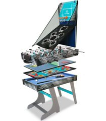 hy-pro 8-in-1 folding combo game table football, table tennis, pool, hockey, archery, darts, bean bag toss, basketball