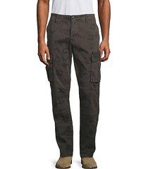 camo-print stretch-cotton cargo pants
