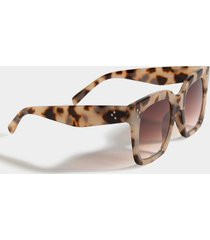 poppy tort square sunglasses - tortoise