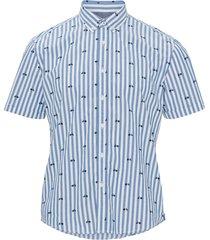 randig kortärmad skjorta