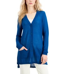 alfani petite button-front long cardigan, created for macy's